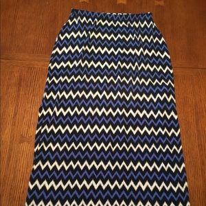 Michael Kors maxi skirt chevron pattern